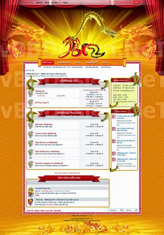 Skin forum vbb Tết - Skin vbb Happy New Year