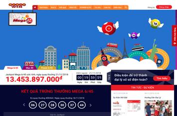 Nhận làm website kết quả vietlott - Thiết kế website vietlott.vn