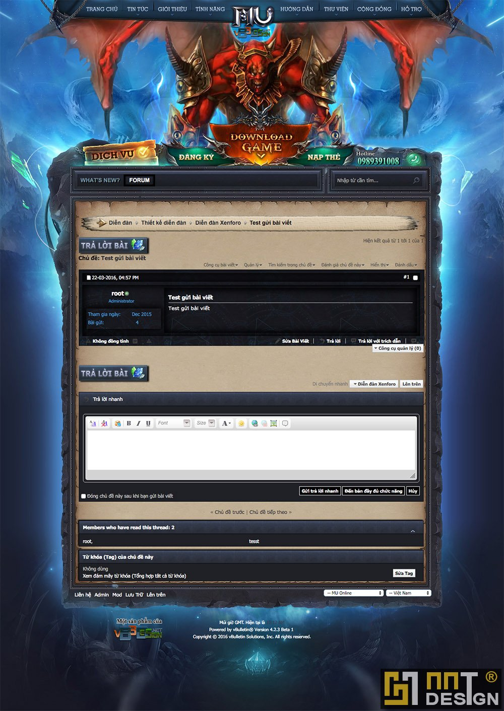 Skin vBB forum game MU Online - Skin forum vbb MU Gate